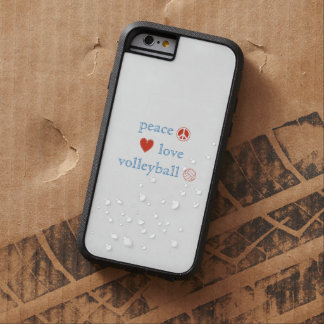 Peace Love and Volleyball Tough Xtreme iPhone 6 Case