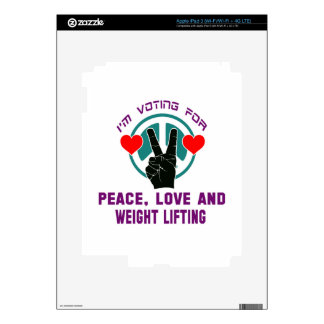 Peace Love And Weight Lifting. iPad 3 Decals