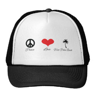 Peace Love and West Palm Beach Trucker Hat