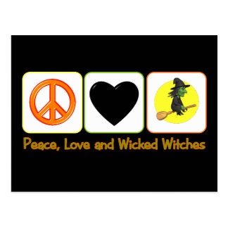 Peace, Love and Wicked Witches Postcard