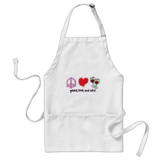 Peace, Love, and Wine Adult Apron
