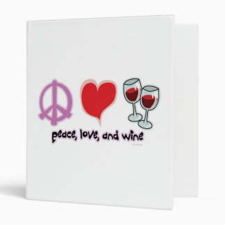 Peace, Love, and Wine Binder