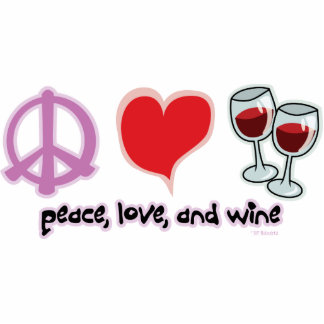 Peace, Love, and Wine Statuette