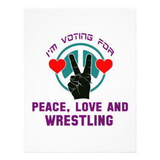 Peace Love And Wrestling. Letterhead