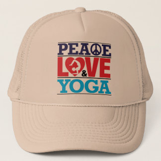 Peace, Love and Yoga Hat