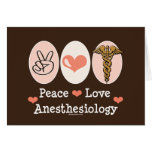 Peace Love Anesthesiology Greeting Card