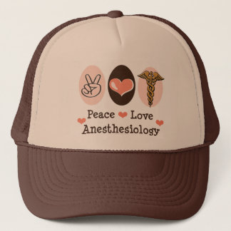 Peace Love Anesthesiology Hat