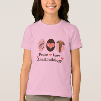 Peace Love Anesthesiology Kids Ringer Tee Shirt