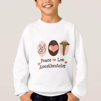 Peace Love Anesthesiology Kids Sweatshirt