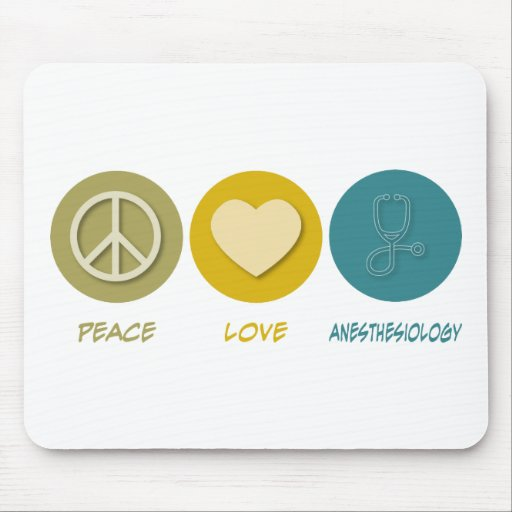 Peace Love Anesthesiology Mouse Mats