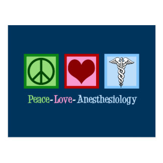 Peace Love Anesthesiology Postcard