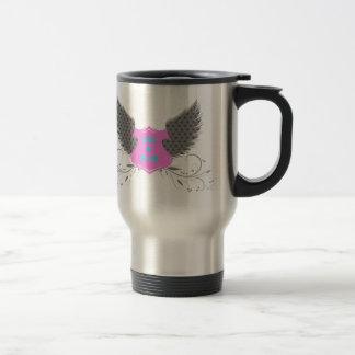 Peace Love Angel Wings Design Travel Mug