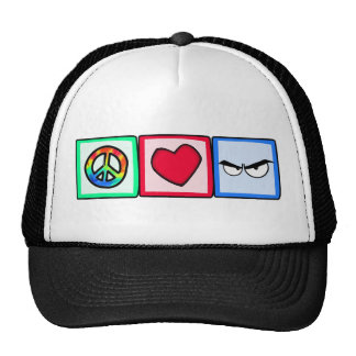Peace Love Anger Hats