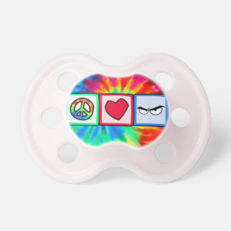 Peace, Love, Anger Baby Pacifier