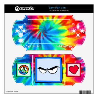 Peace, Love, Anger Decal For PSP Slim