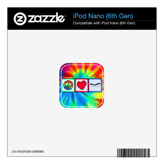 Peace, Love, Anger Decal For iPod Nano