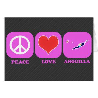 Peace Love Anguilla Greeting Cards