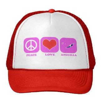 Peace Love Anguilla Hats
