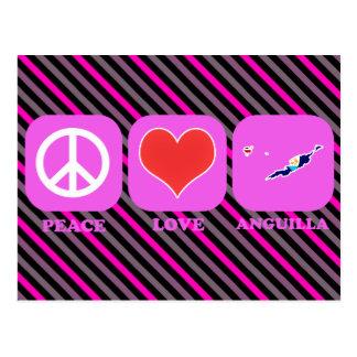 Peace Love Anguilla Postcard