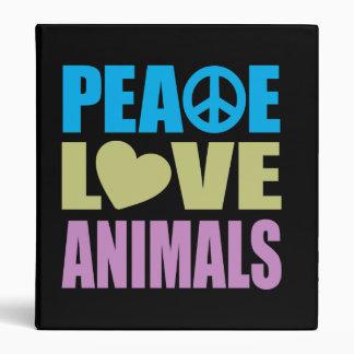 Peace Love Animals Binder
