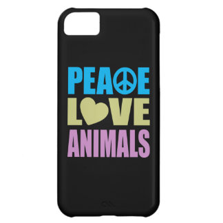 Peace Love Animals Case For iPhone 5C