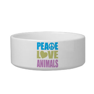 Peace Love Animals Cat Food Bowl