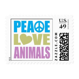 Peace Love Animals Postage