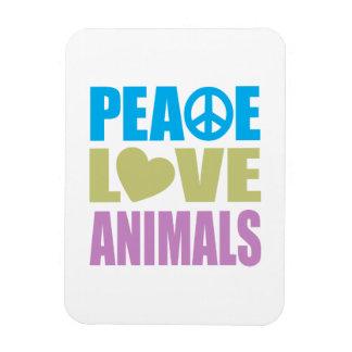 Peace Love Animals Vinyl Magnets