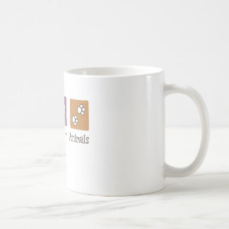Peace Love Animals (Two Paws) Coffee Mug