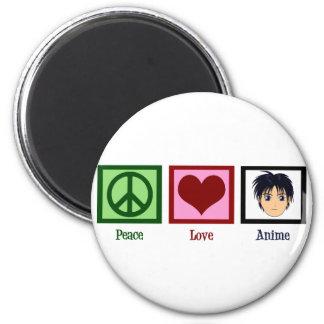 Peace Love Anime Fridge Magnets