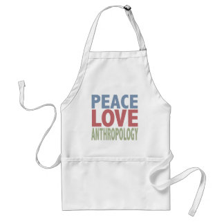 Peace Love Anthropology Adult Apron