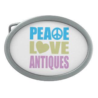 Peace Love Antiques Oval Belt Buckle