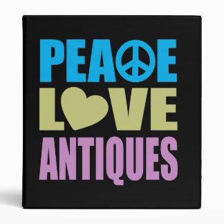 Peace Love Antiques Binder