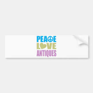 Peace Love Antiques Bumper Stickers