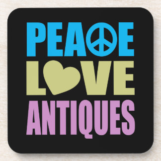 Peace Love Antiques Drink Coaster
