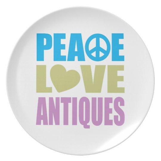 Peace Love Antiques Melamine Plate