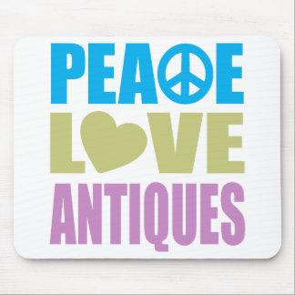 Peace Love Antiques Mousepads