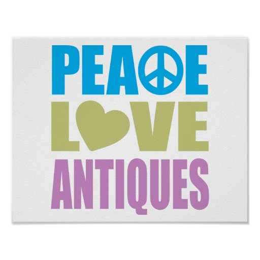 Peace Love Antiques Print