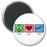 Peace Love Ants 2 Inch Round Magnet