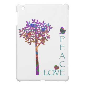 Peace-Love-Apple Tree/Colorful iPad Mini Cases