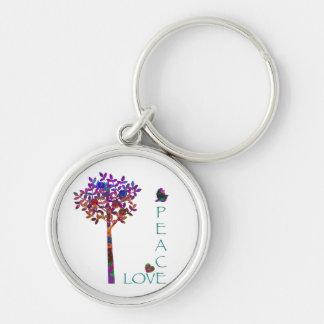 Peace, Love, Apple Tree Keychain