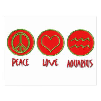 Peace Love Aquarius Postcard