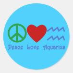 Peace Love Aquarius Products Sticker