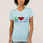 Peace Love Aquarius Products Tshirt