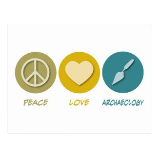 Peace Love Archaeology Postcard