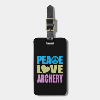 Peace Love Archery Bag Tag