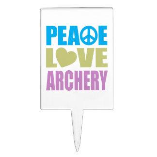 Peace Love Archery Cake Topper