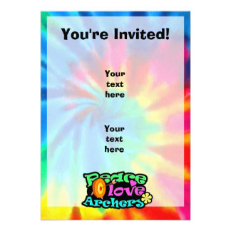 Peace, Love, Archery Custom Invites