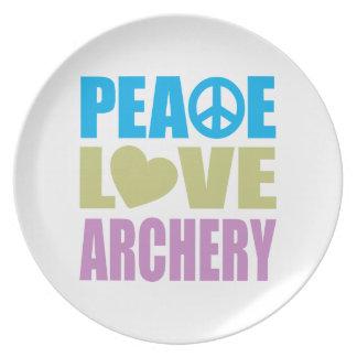 Peace Love Archery Melamine Plate