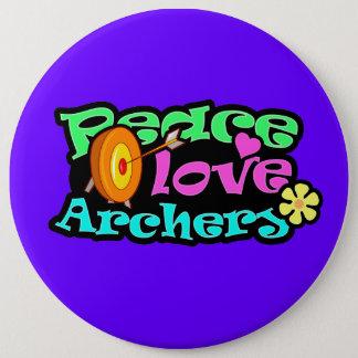 Peace, Love, Archery Pinback Button